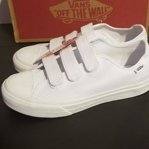 Vans Shoes - Van's Style 23 V White Twill Shoes Velcro Size 7